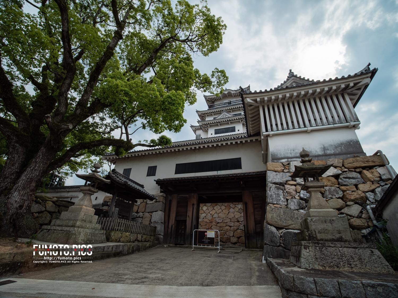 今治城は沿岸の平地に建てられた、海水のお堀を持つ珍しい城である
